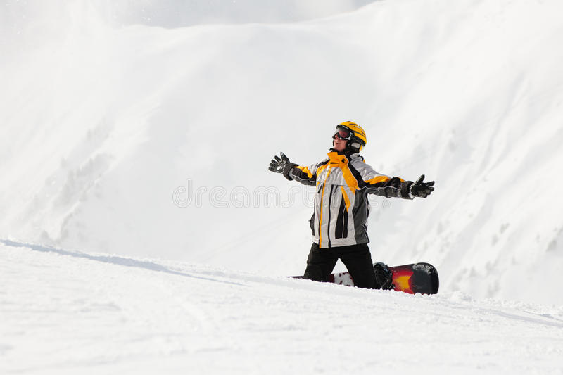 Download Snowboarder in the snow stock image. Image of vacation - 22335453