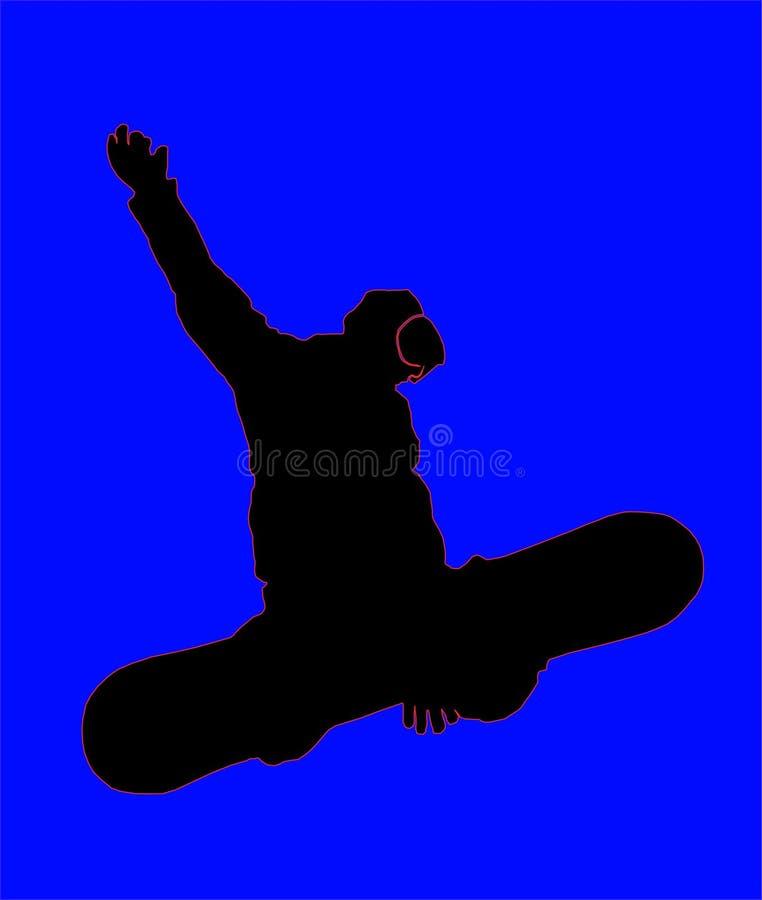Snowboarder1 illustration stock