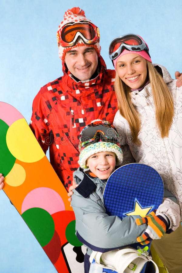 Snowboarders photo stock