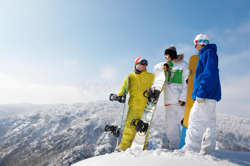 Snowboarders photos stock