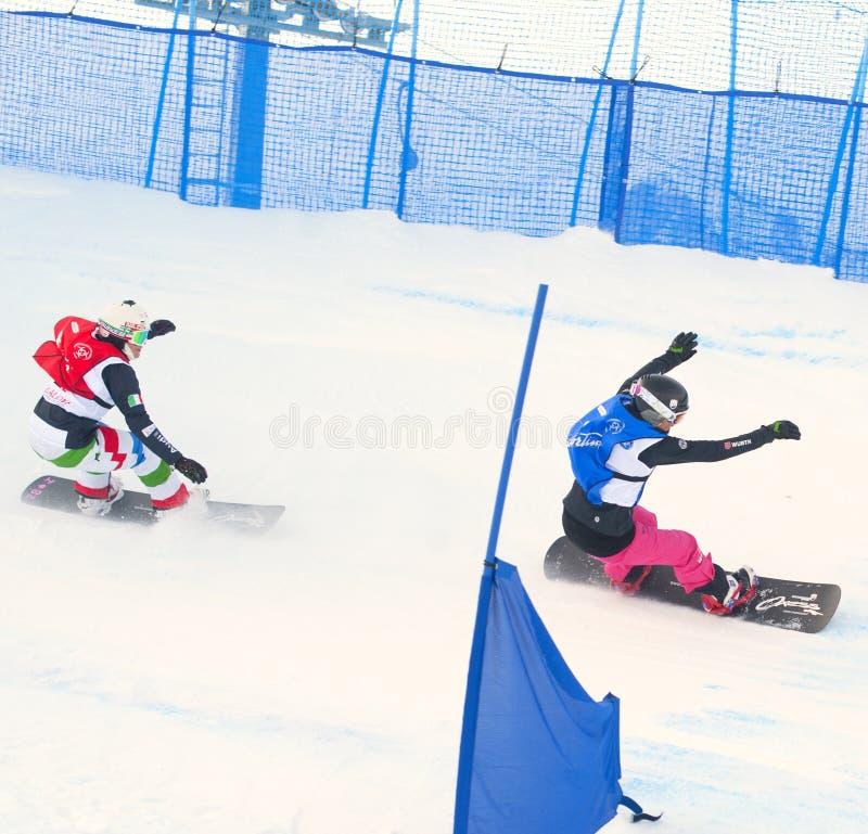 Snowboarders imagem de stock royalty free