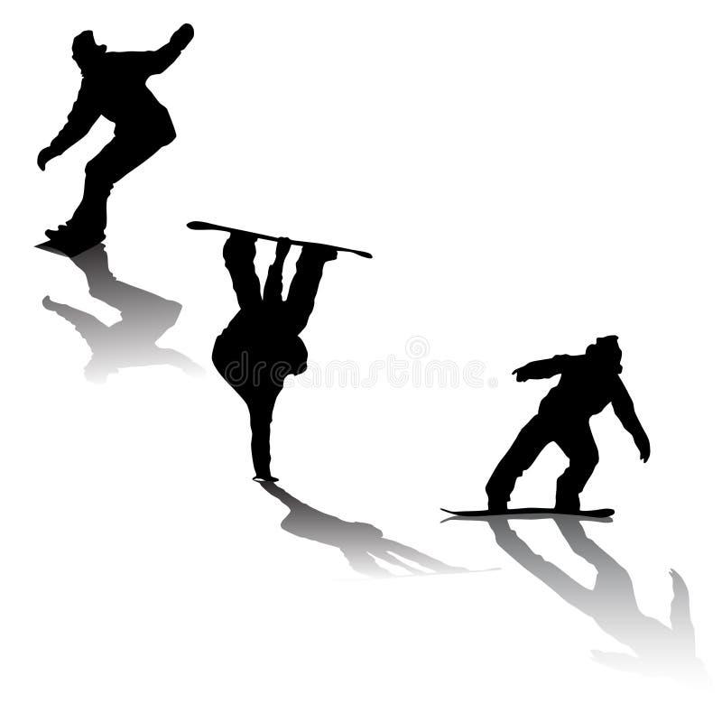 Snowboarders ilustração royalty free