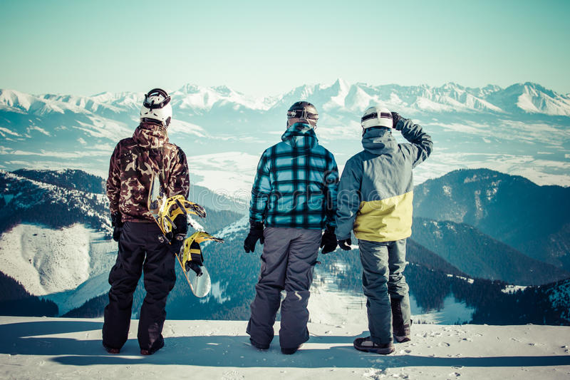 snowboarders arkivbilder