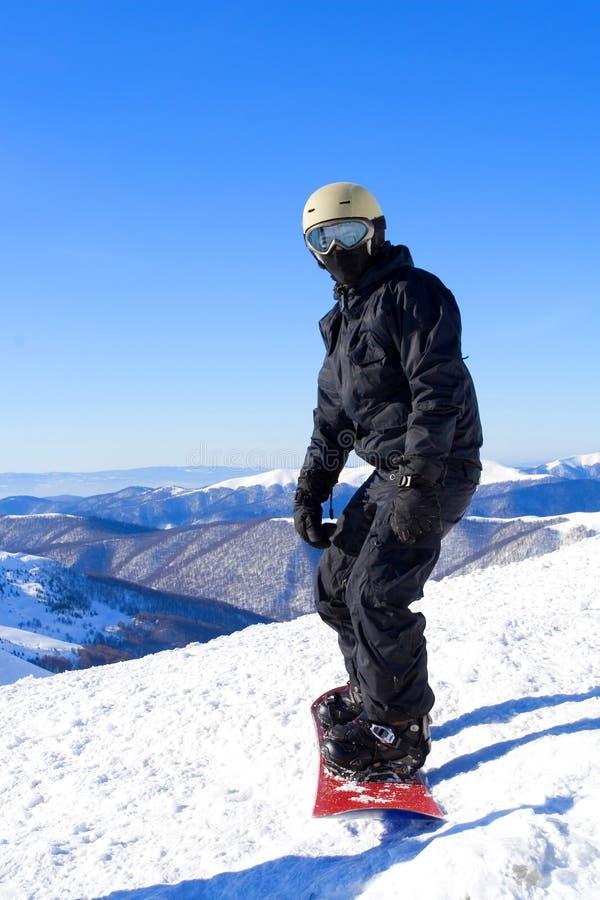 snowboarders royaltyfria bilder