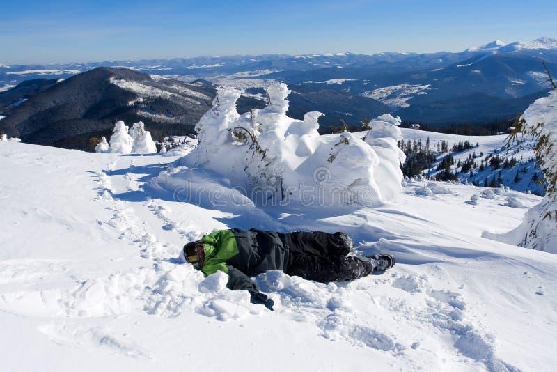 snowboarders arkivfoto