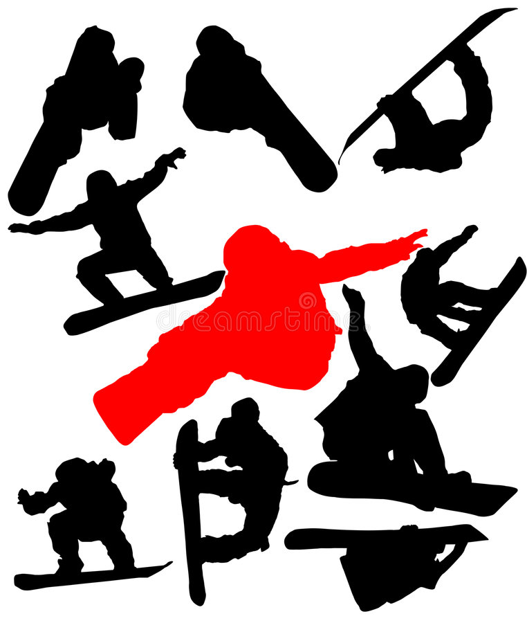 Download Snowboarders ilustración del vector. Ilustración de acción - 7287128