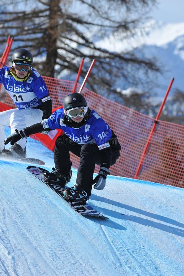 Snowboarders japoneses fotos de stock royalty free
