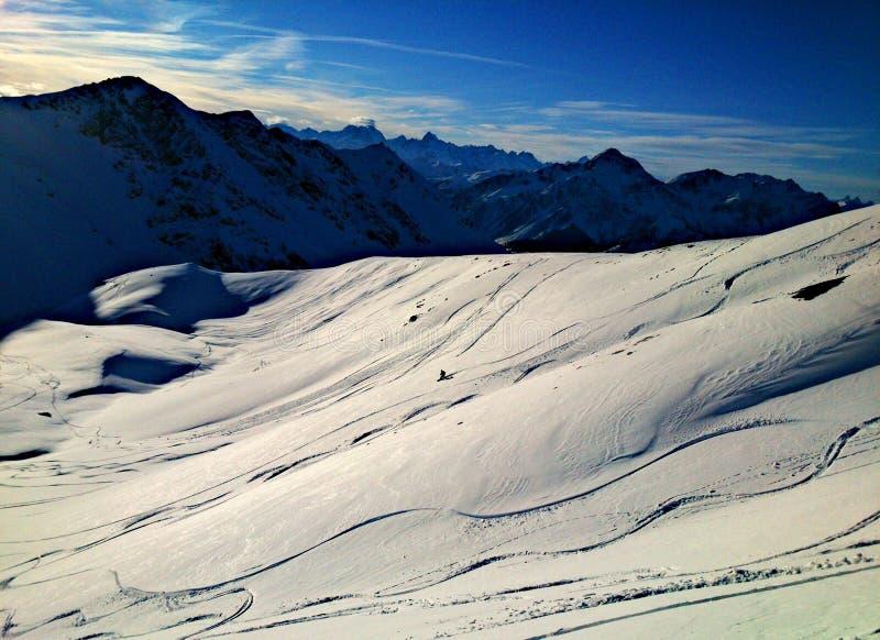 Snowboardfreeride stock afbeelding