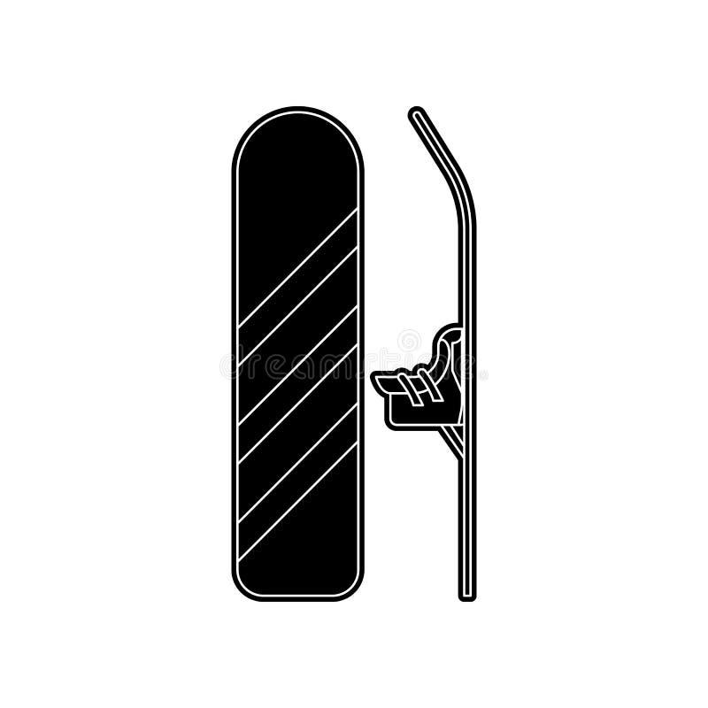 Snowboardikone Element des Winters f?r bewegliches Konzept und Netz Appsikone Glyph, flache Ikone f?r Websiteentwurf und stock abbildung