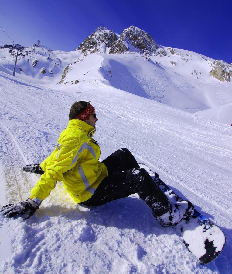 snowboarding à solden Autriche images stock