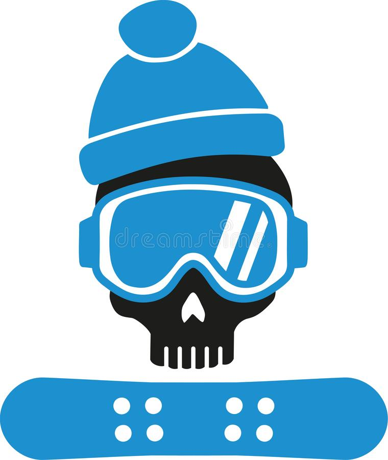 snowboarding ilustracji