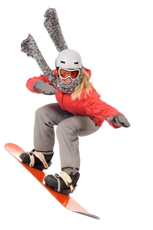 Snowboarding stockfotografie