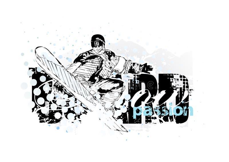 Snowboarding vektor abbildung