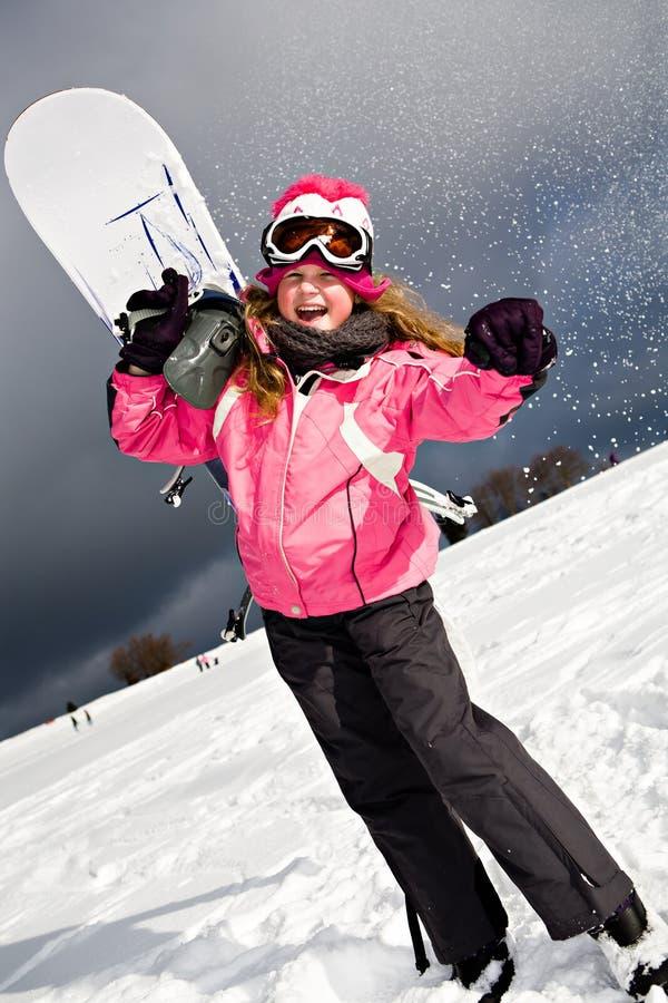 Snowboarding lizenzfreies stockfoto