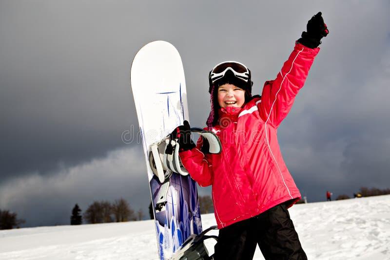 Snowboarding royaltyfria foton