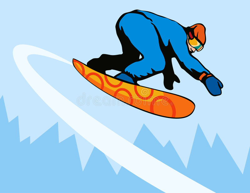 Snowboarding διανυσματική απεικόνιση
