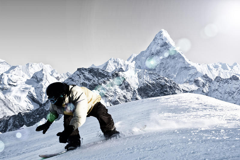 snowboarding stock foto's