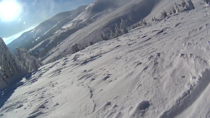snowboarding banque de vidéos