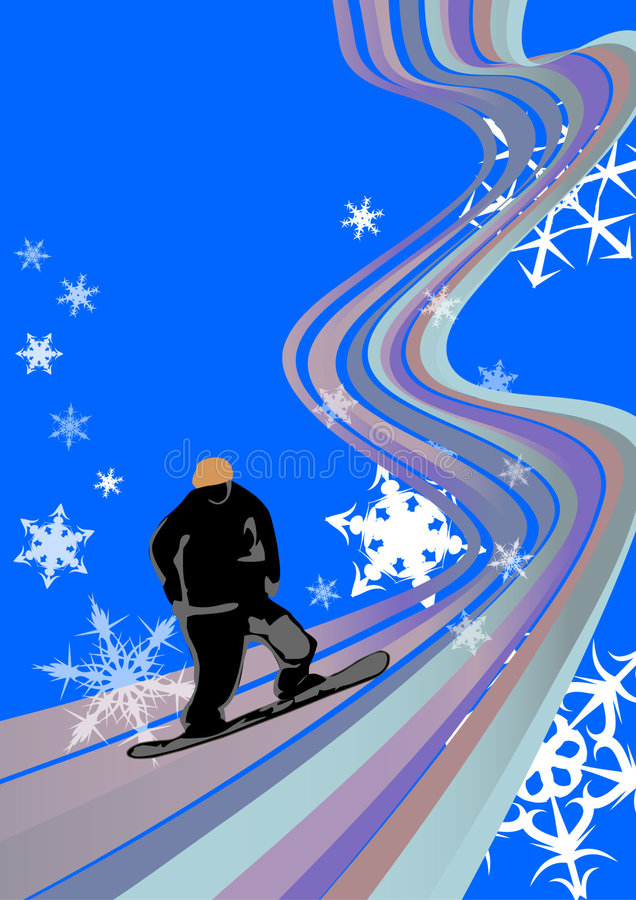 Snowboarding royalty free illustration