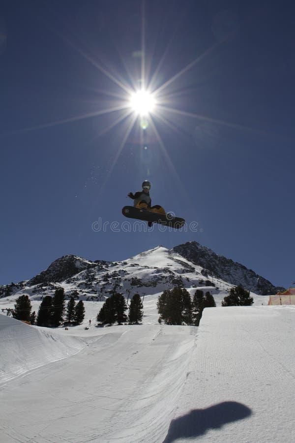 snowboarding lizenzfreies stockbild