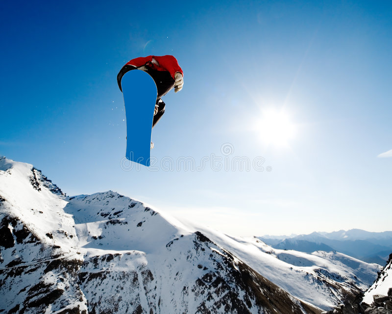 Snowboarding action royalty free stock images