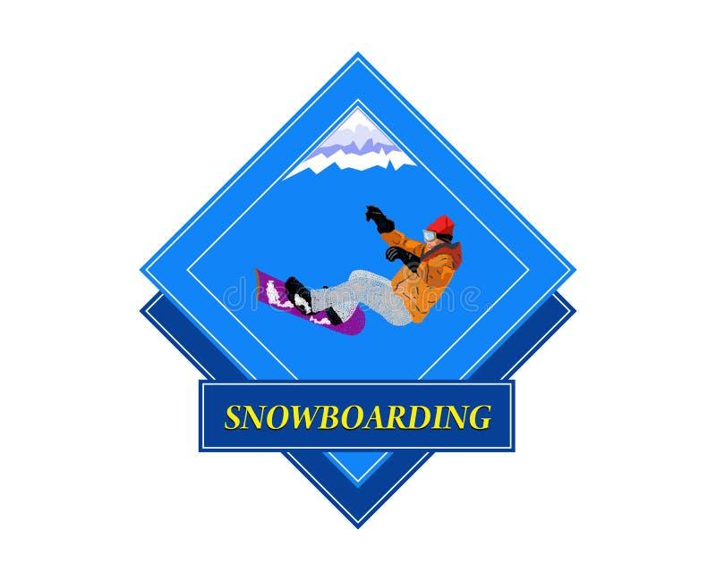 Snowboarding.Adventure иллюстрация вектора
