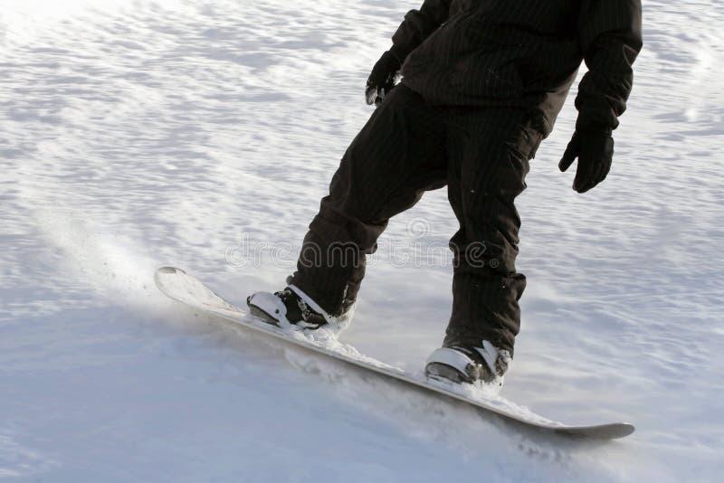 Snowboarding d'homme photos libres de droits