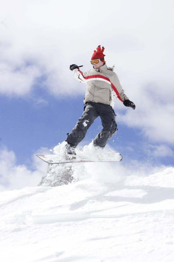 Snowboarding extrême images libres de droits