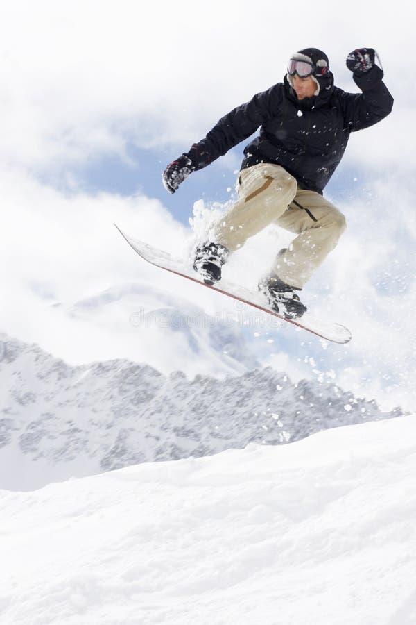 Snowboarding extrema fotos de stock royalty free