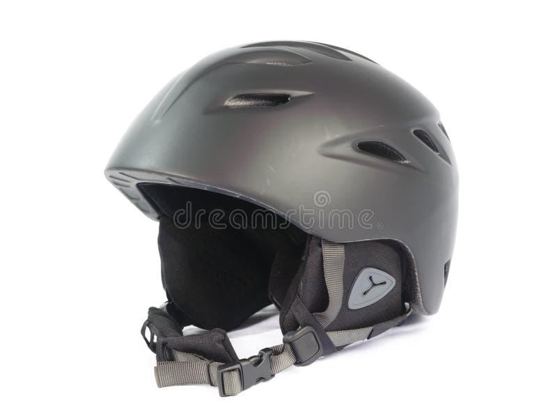 Snowboarding helmet. Isolated on white background stock images
