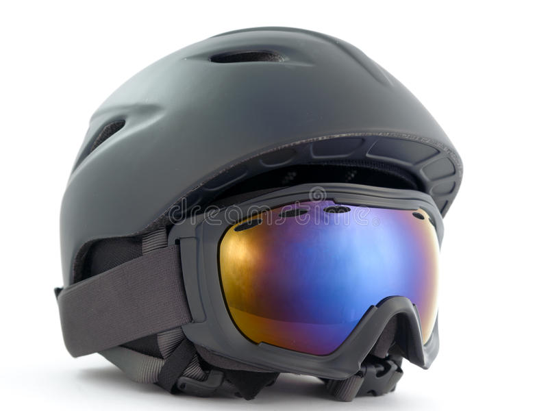 Snowboarding helmet. Isolated on white background royalty free stock photos