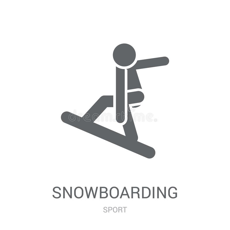 snowboarding icon. Trendy snowboarding logo concept on white background from Sport collection royalty free illustration