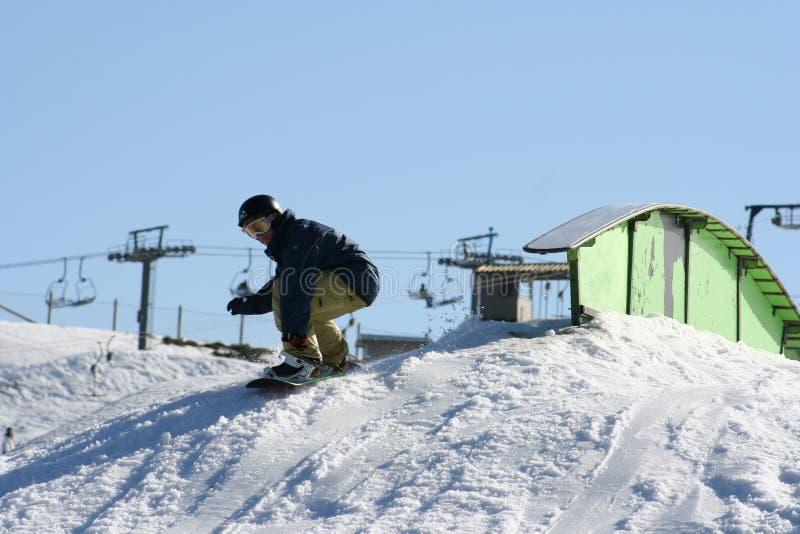 Snowboarding jump, Australia royalty free stock photos