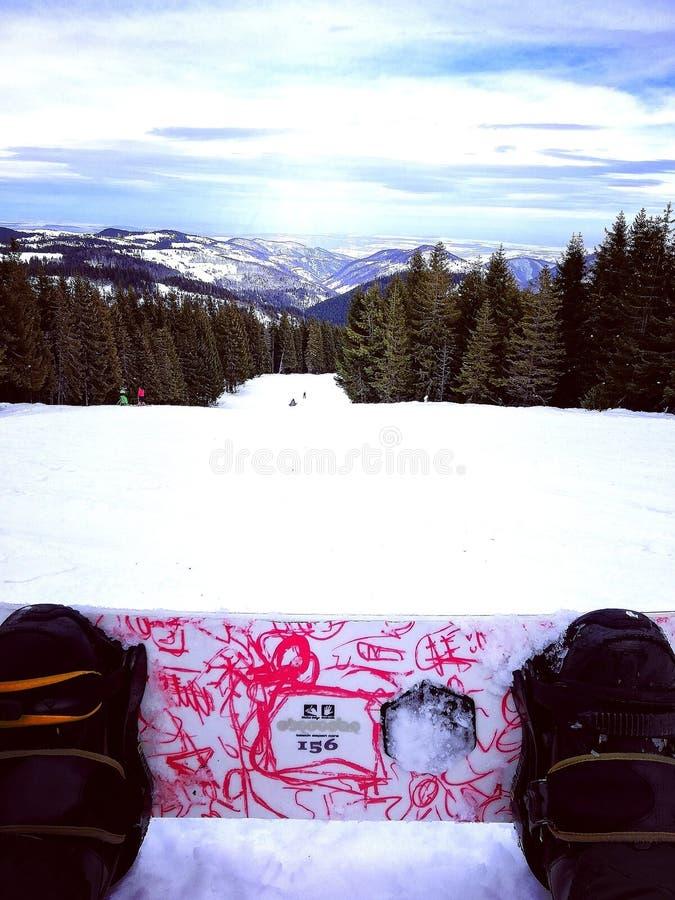 snowboarding imagen de archivo