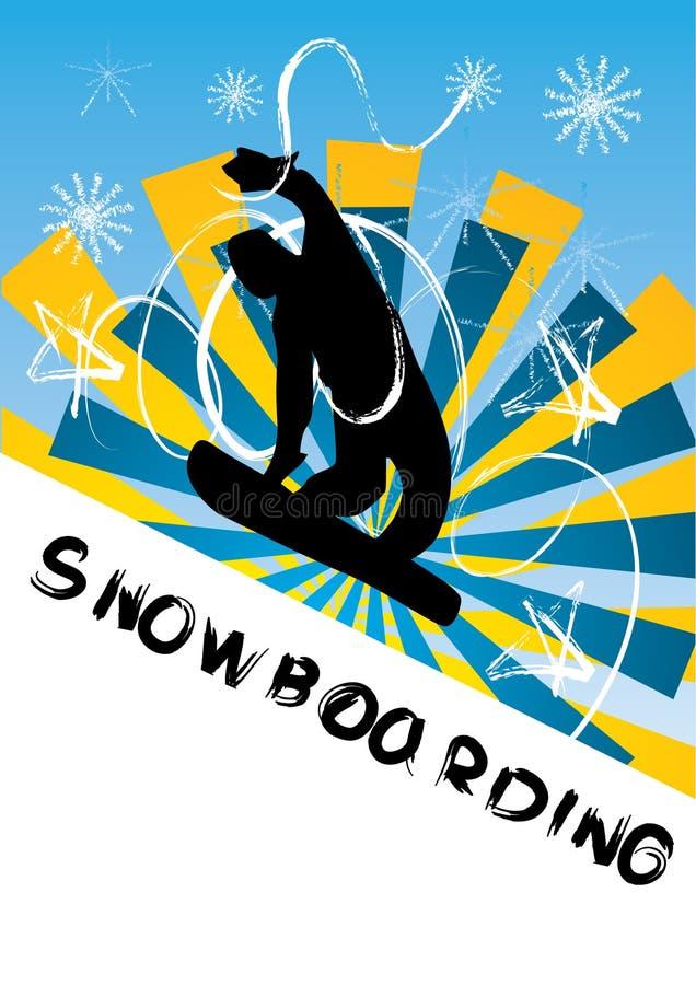 Download Snowboarding Vector Illustration Stock Vector - Illustration of outline, board: 8206653