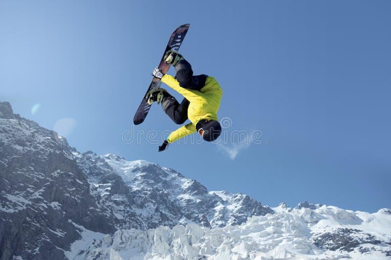 Snowboardingsport royaltyfri bild