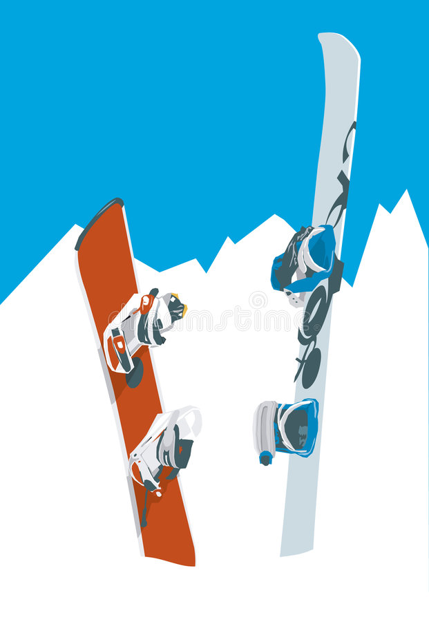 Download Snowboards stock vector. Illustration of cool, vector - 3320739