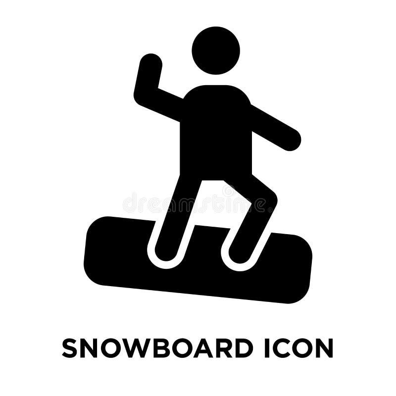 Snowboardsymbolsvektor som isoleras på vit bakgrund, logobegrepp stock illustrationer