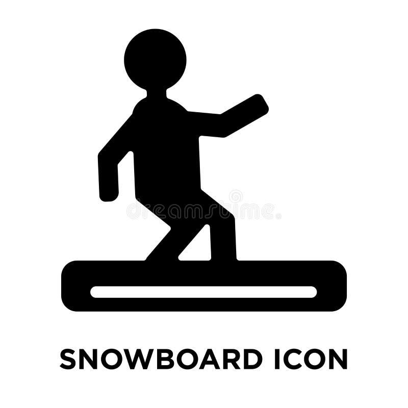 Snowboardsymbolsvektor som isoleras på vit bakgrund, logobegrepp royaltyfri illustrationer