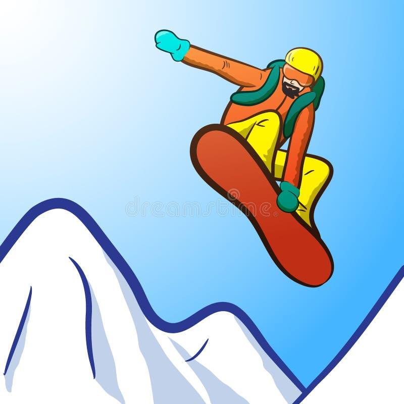 Snowborder royaltyfri illustrationer