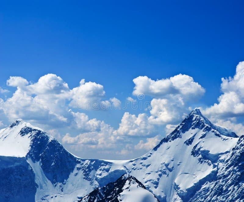 Snowbound Mountain Peak Stock Image