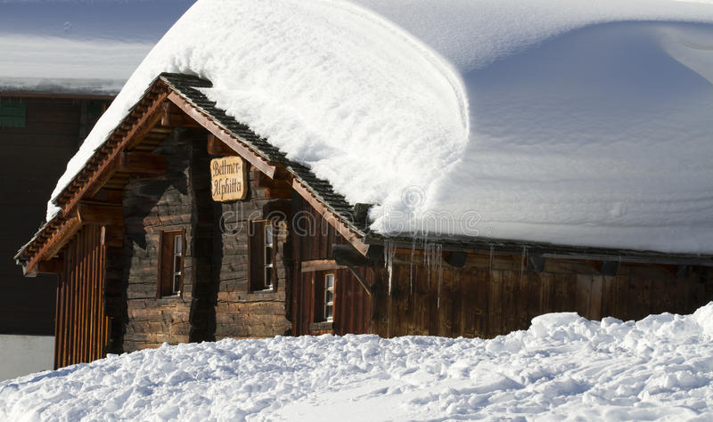 Download Snowbound Wooden Chalet Stock Images - Image: 23321964