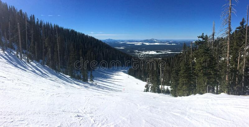 Snowbowl: Volcano Ski Run stock photo