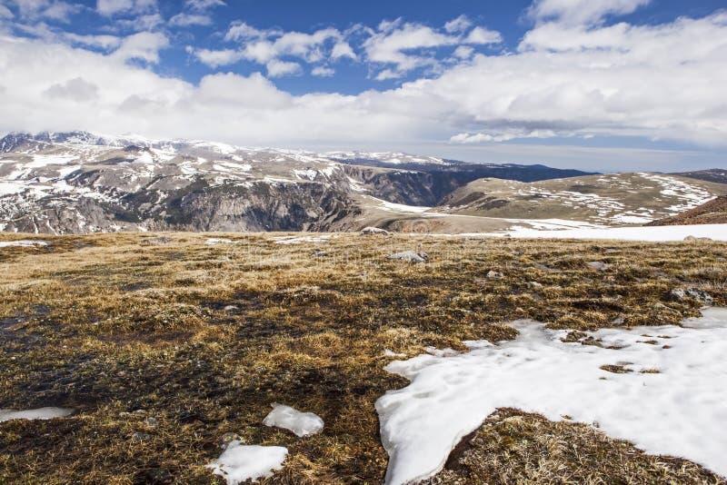 Wysokiej góry zima w zachodnich górach obrazy royalty free