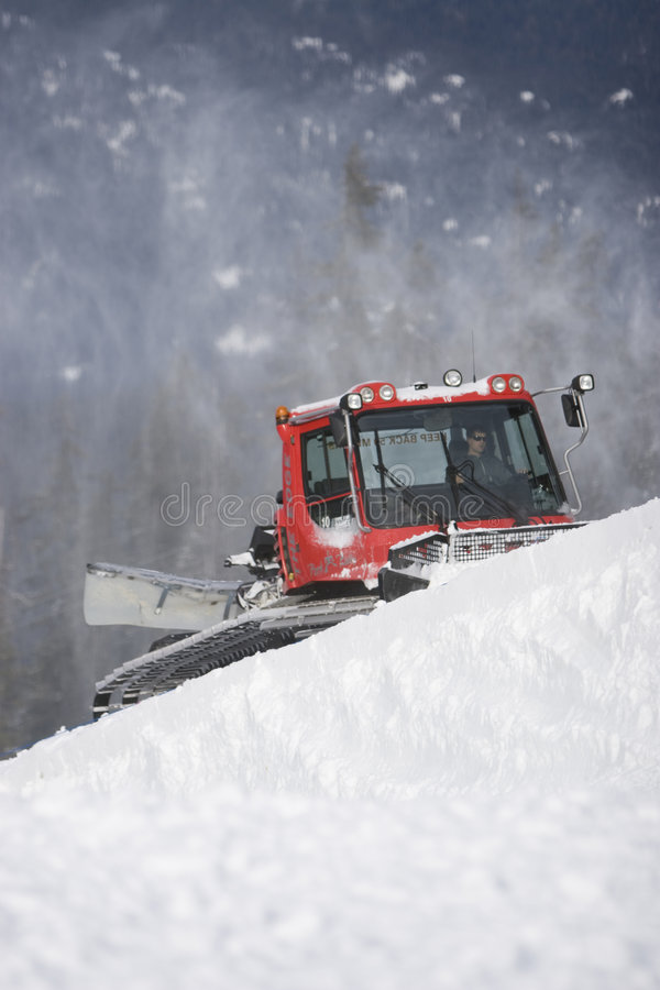 snowcat холить стоковое изображение