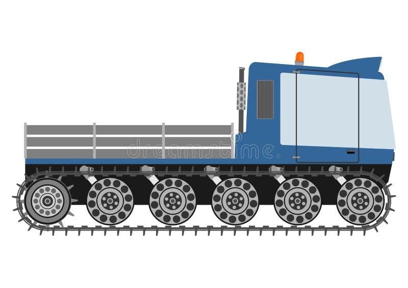 Snowcat kontur. vektor illustrationer
