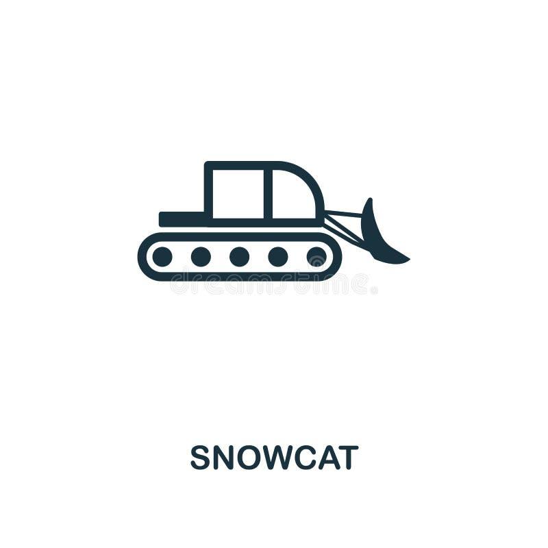 Snowcat symbol Högvärdig stildesign från samling för symbol för vintersportar UI och UX Perfekt Snowcat för PIXEL symbol för reng royaltyfri illustrationer