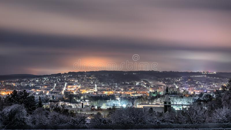 Snowcity stock foto