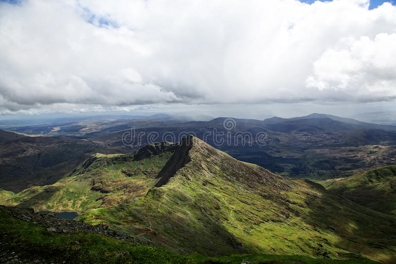 Snowdon Moutain pasmo obraz royalty free