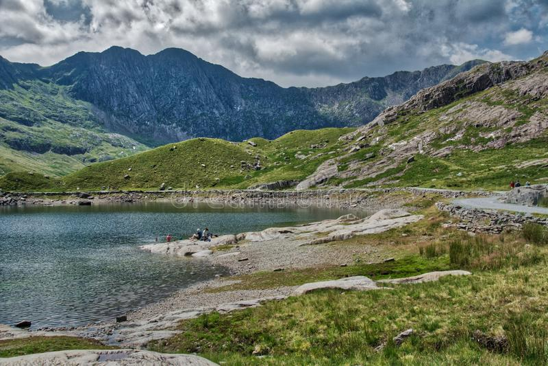 Snowdonia ans góra Snowden zdjęcie royalty free